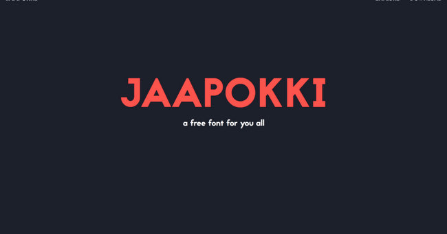 Jaapokki Minimalistic Free Fonts Download for Design Projects