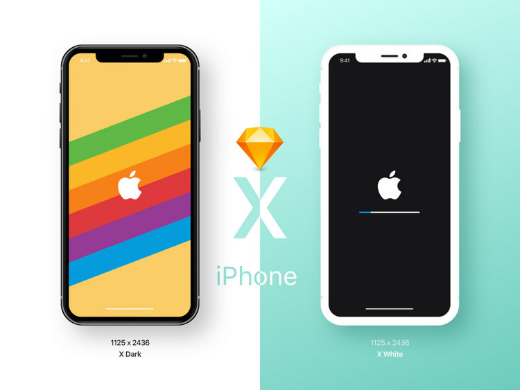iPhone X & iPhone 8 free mockups download
