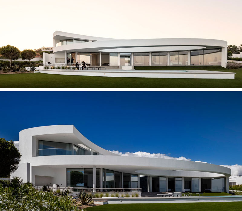 Contemporary Sculptural House in Luz, Portugal