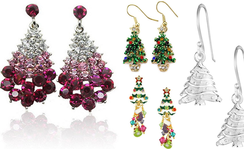 10 Beautiful Christmas Tree Earrings