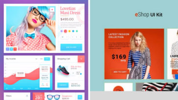 40 Free eCommerce UI Kit PSD and Sketch Files for Web and App Designers