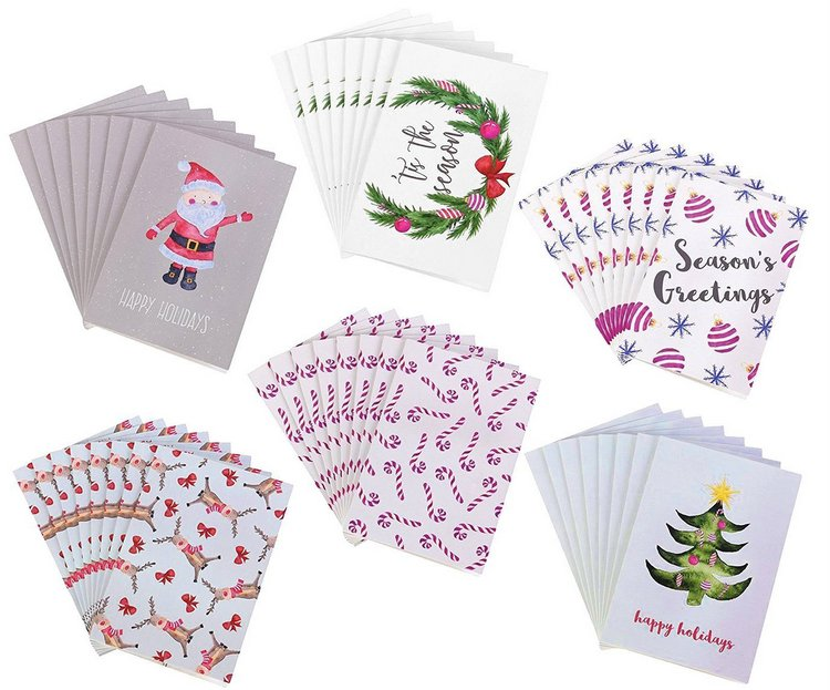 48 Holiday Greeting Cards Pack