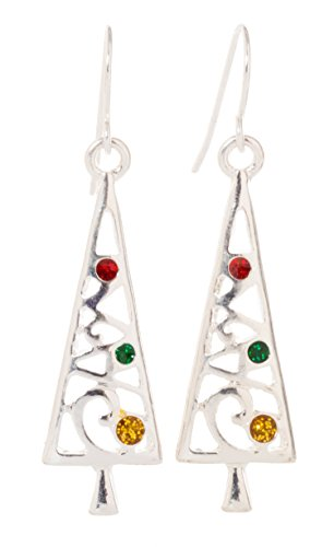 Artisan Owl Christmas Tree Dangle Earrings