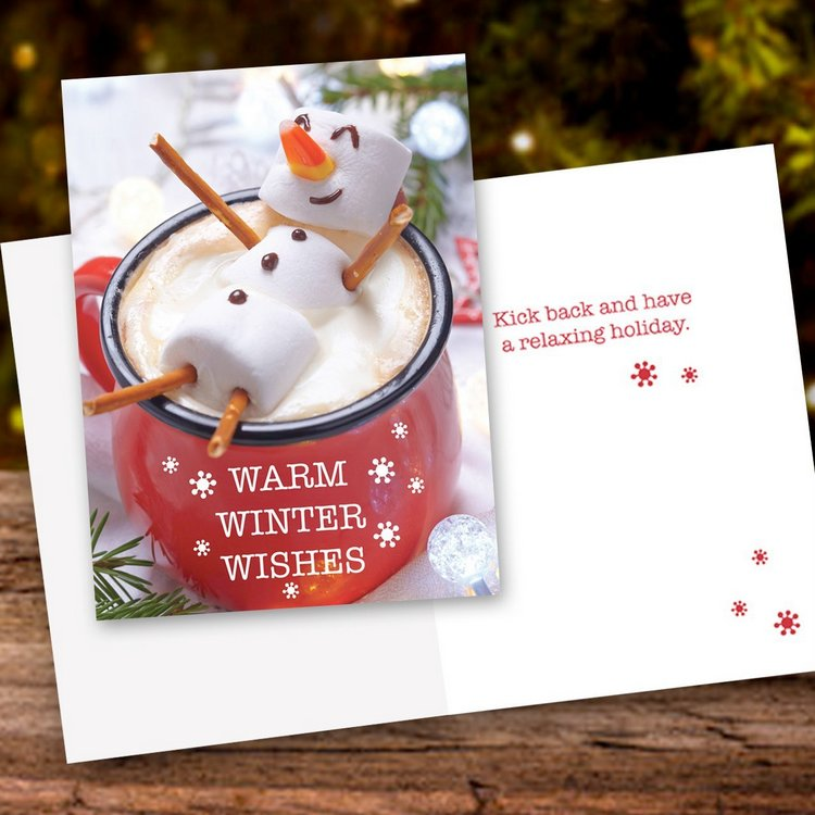 Cocoa Snowman Holiday Card Pack