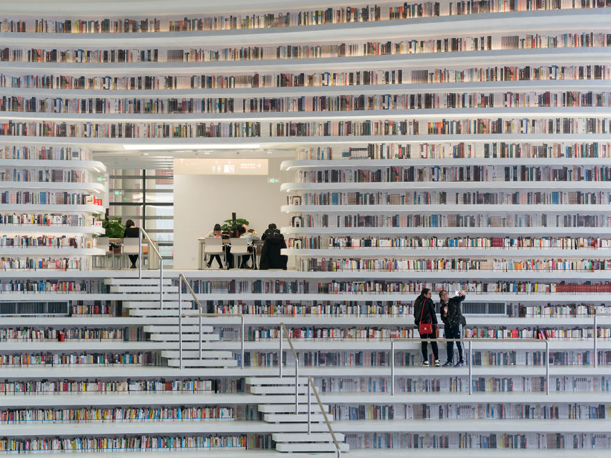 Coolest Library With 1.2 Million Books and Interior Will Take Your Breath Away