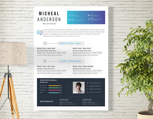 Cover Letter and Resume Design Template Free