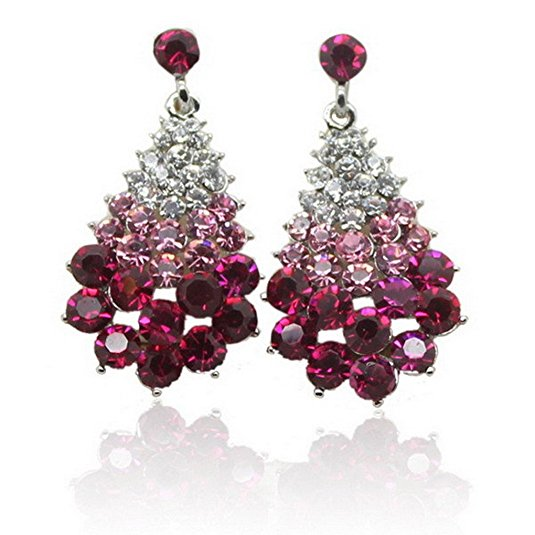 Crystal Stud Vintage Christmas Tree Earrings
