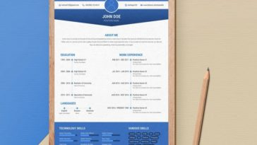 Free CV Design Template  resume template download