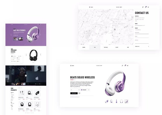 Free Ecommerce UI Kit PSD Global Store