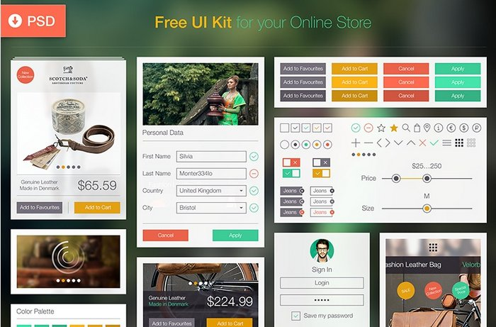 Free PDS UI Kit for Online Store