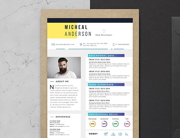 Free Resume Template and Cover letter illustrator Download