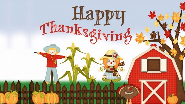 Happy Thanksgiving Kids Illustration Background