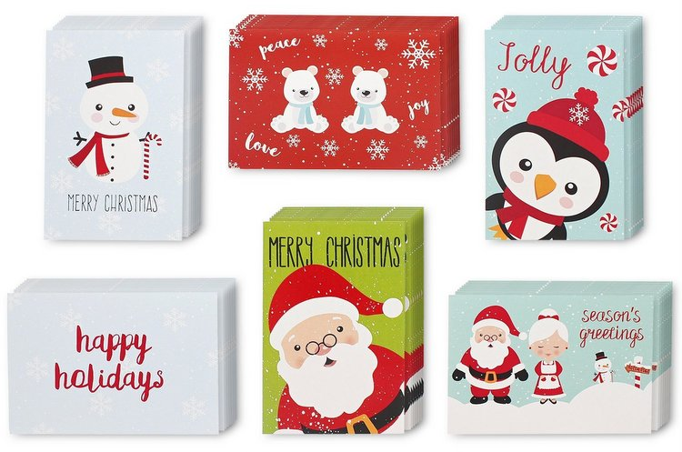 Holiday Christmas Greeting Cards Festive Classic Character Designs