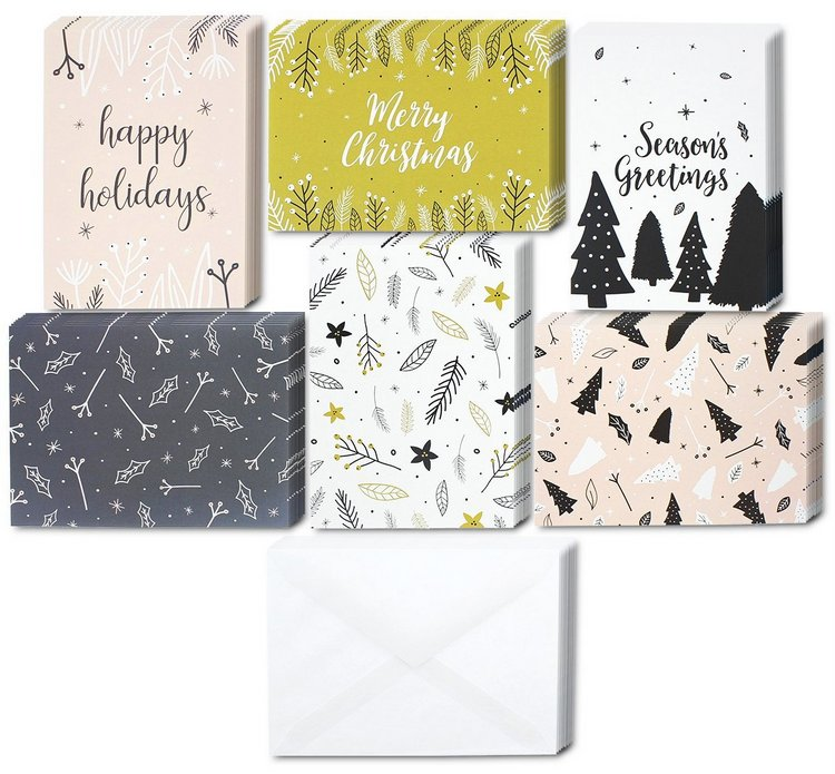 Holiday Family Greeting Cards set