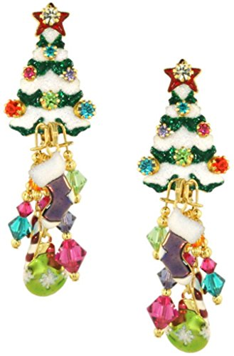 Lunch at The Ritz Christmas Tree Earrings
