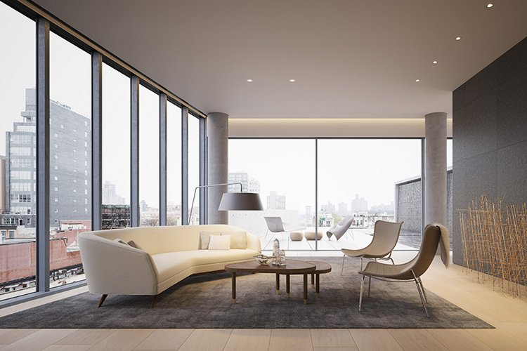 NYC New Penthouse Renderings Images