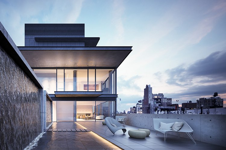 New Penthouse Renderings Images NYC Residential Building