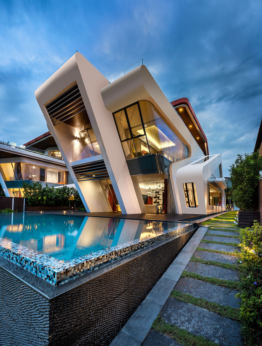 Stunning Contemporary Residential Villa Singapore
