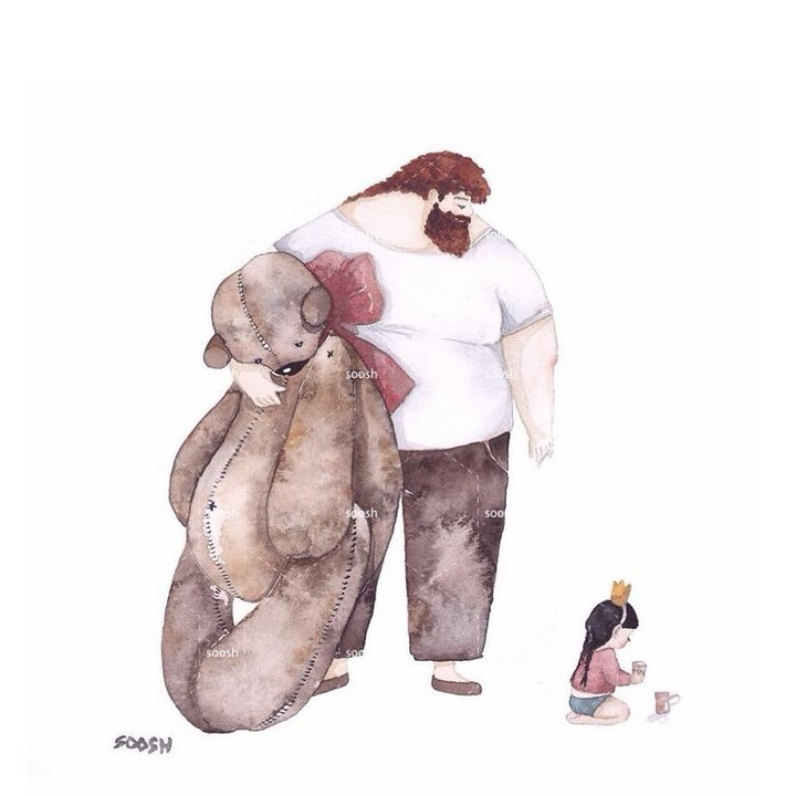 20 Heartwarming Illustrations Show Bond Between Dad and His Little Girl