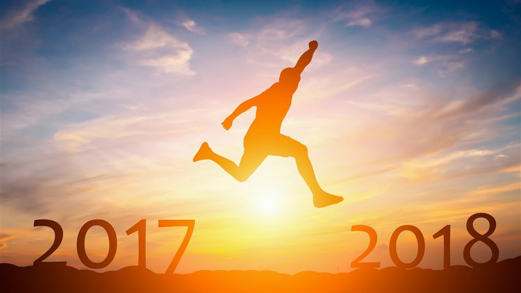 2017 leaping over New Year 2018