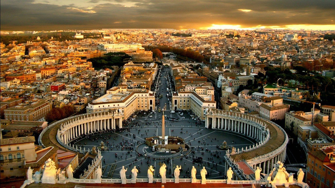 Catholic Church Vatican Wallpaper-1366x768