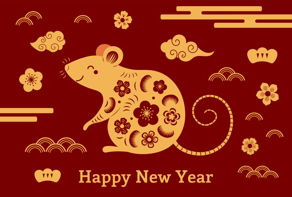 Chinese Happy New Year 2020 Year of Rat Image