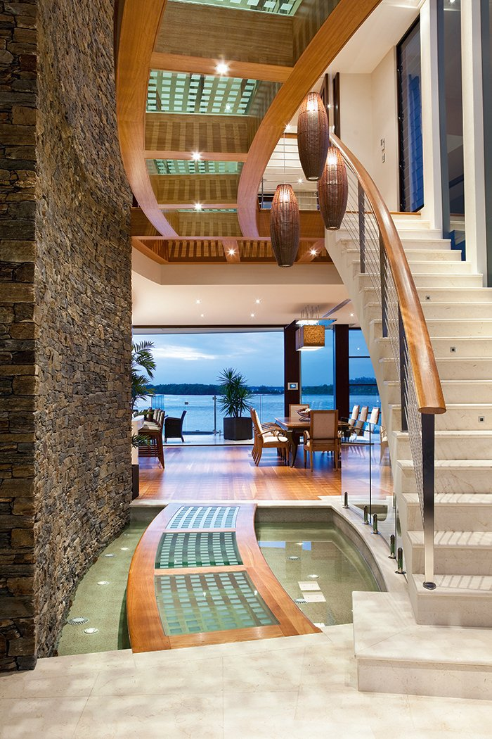 Luxury Waterfront Home with a Tropical Resort-Style Design