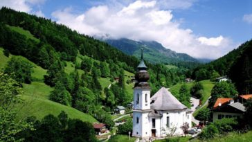 10 Beautiful Church Wallpapers - Maria Gern Church Germany-1920x1200