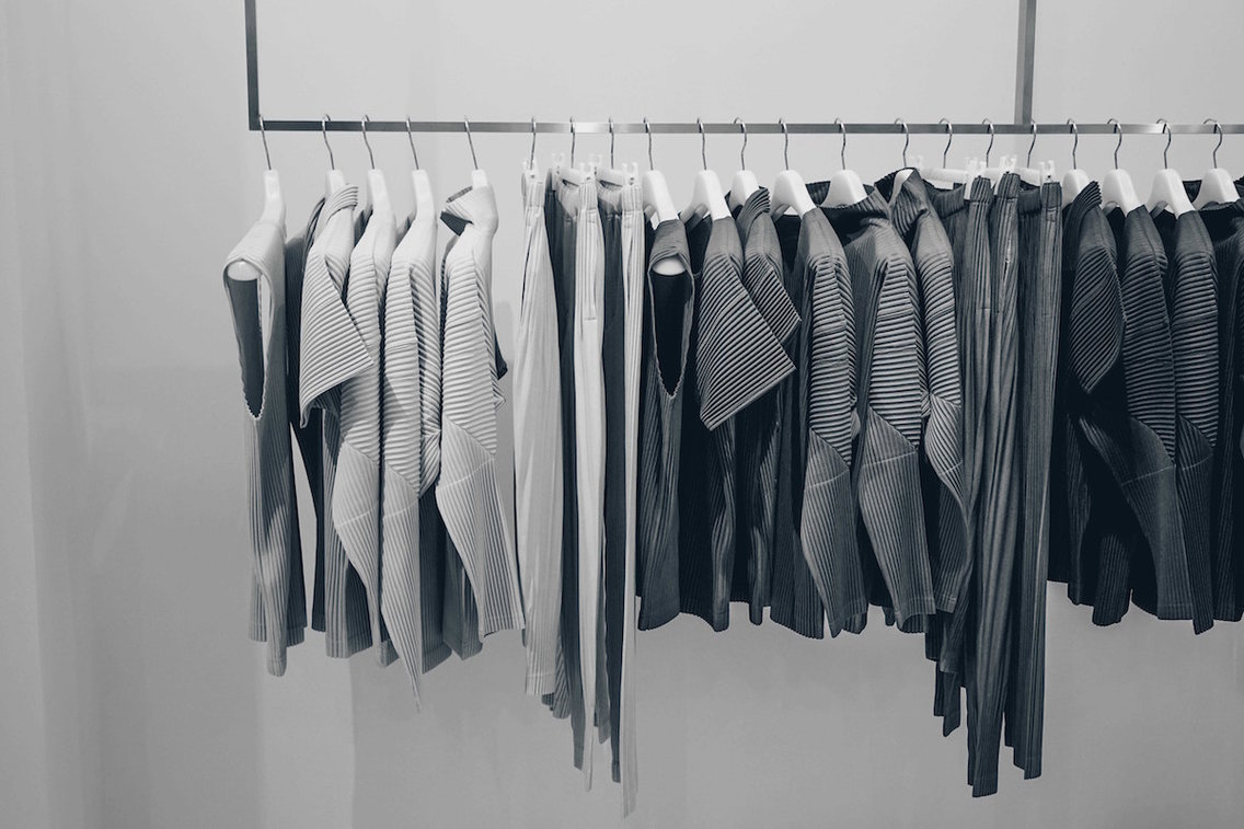 A perfectionist's dream closet.