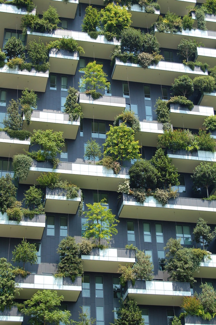 The incredible Bosco Verticale residential towers in Milan, Italy.