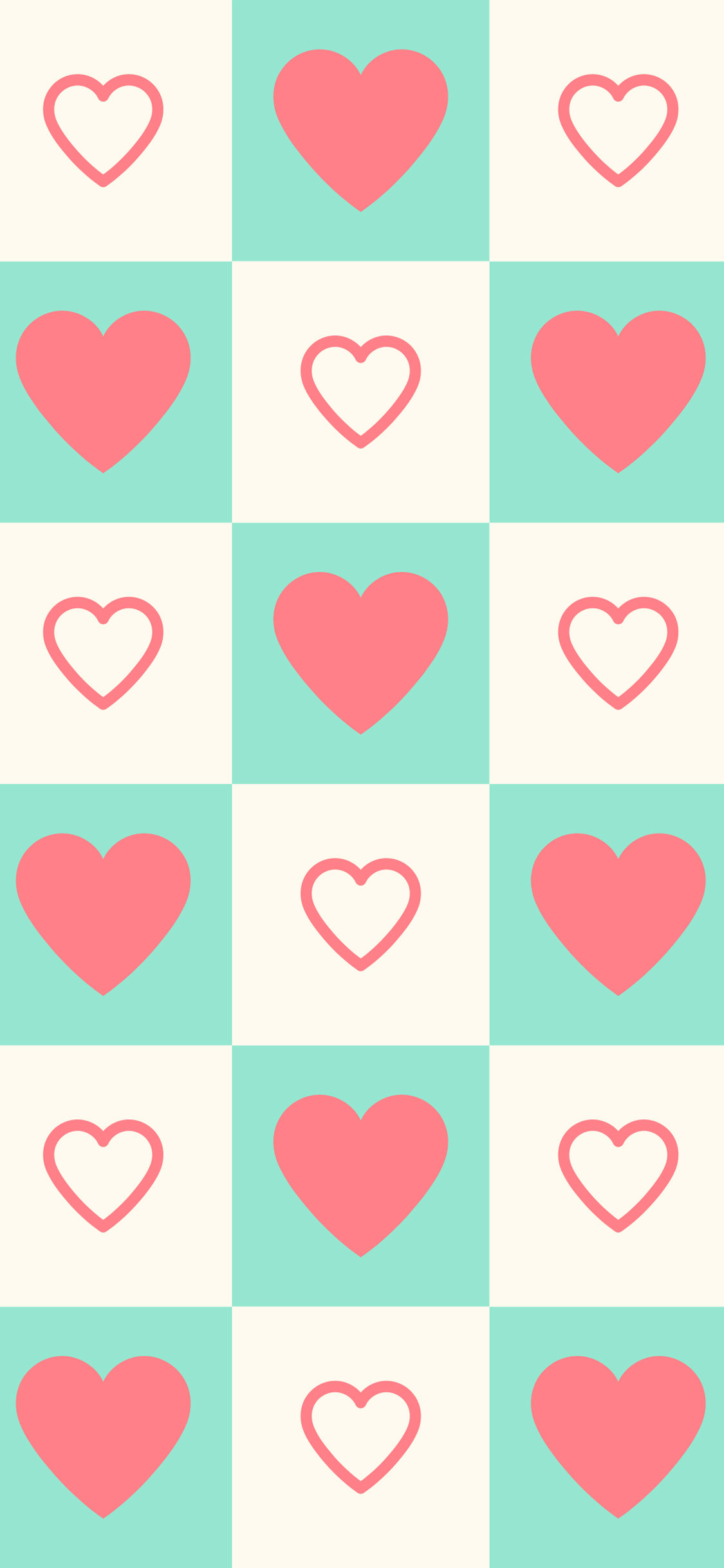 Cute-Heart-iPhone background