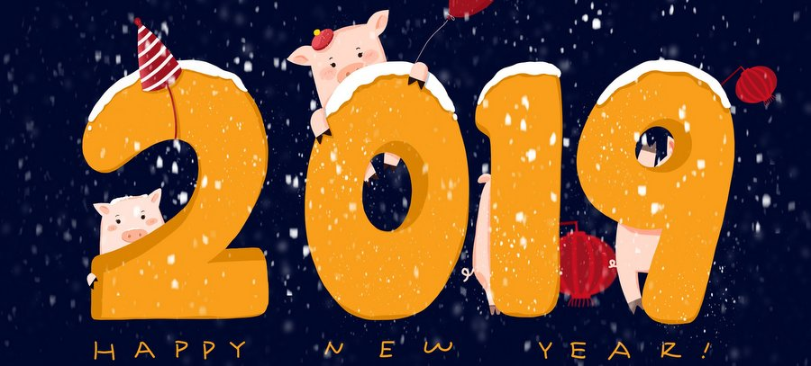 Happy Chinese New Year 2019 Earth Pig Facebook Cover Photos