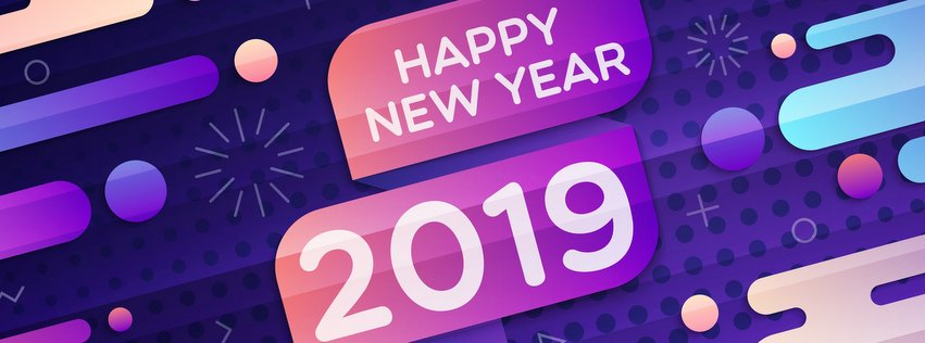 Happy New Year 2019 Facebook Cover pic