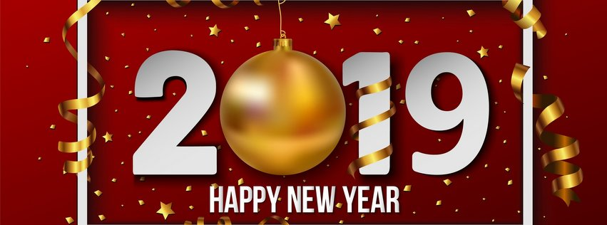 Happy New Year 2019 Facebook Profile Cover Photo Stuffmirror