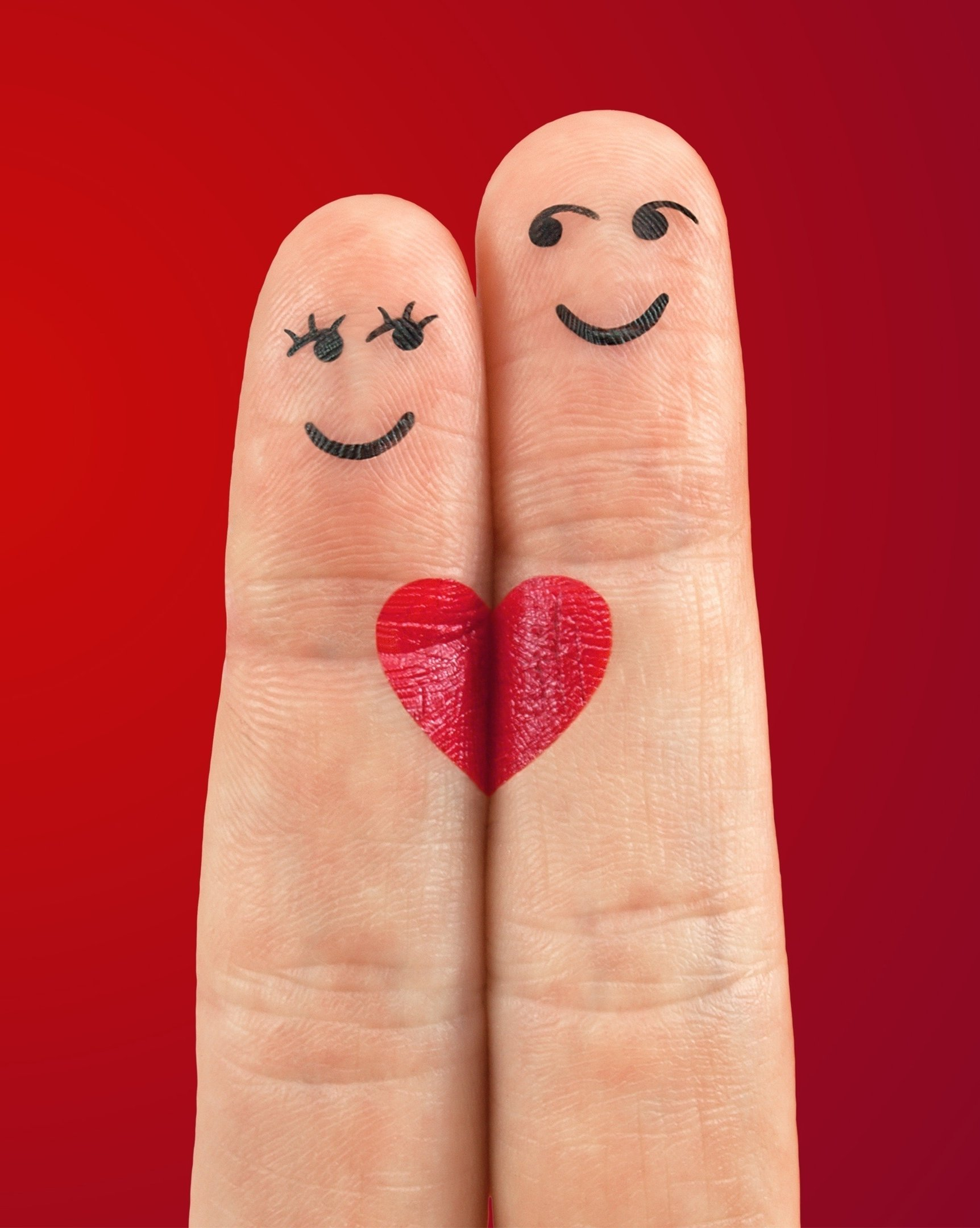 Love Fingers Valentines Days iPhone Wallpaper