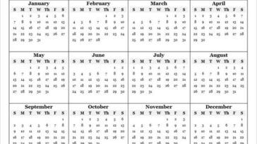 Yearly Calendar Templates MSOffice