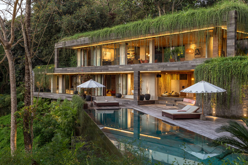 Chameleon Villa Overlooking A Dense Forest and River