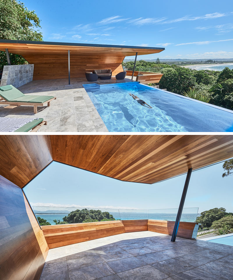 Modern Cabana Design with Swimming Pool - Light Wave