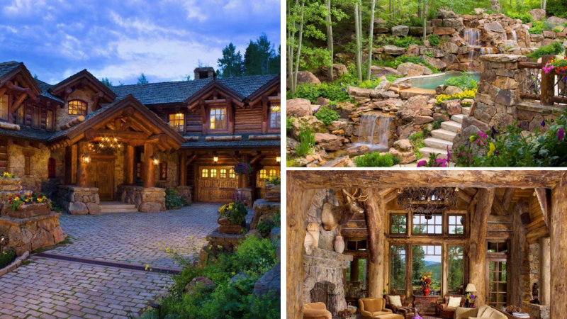 Romantic Rustic Log and Stone Home in Mountain Village