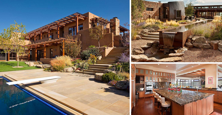 Eco-Friendly Desert House Nestled into a Hillside Overlooking View