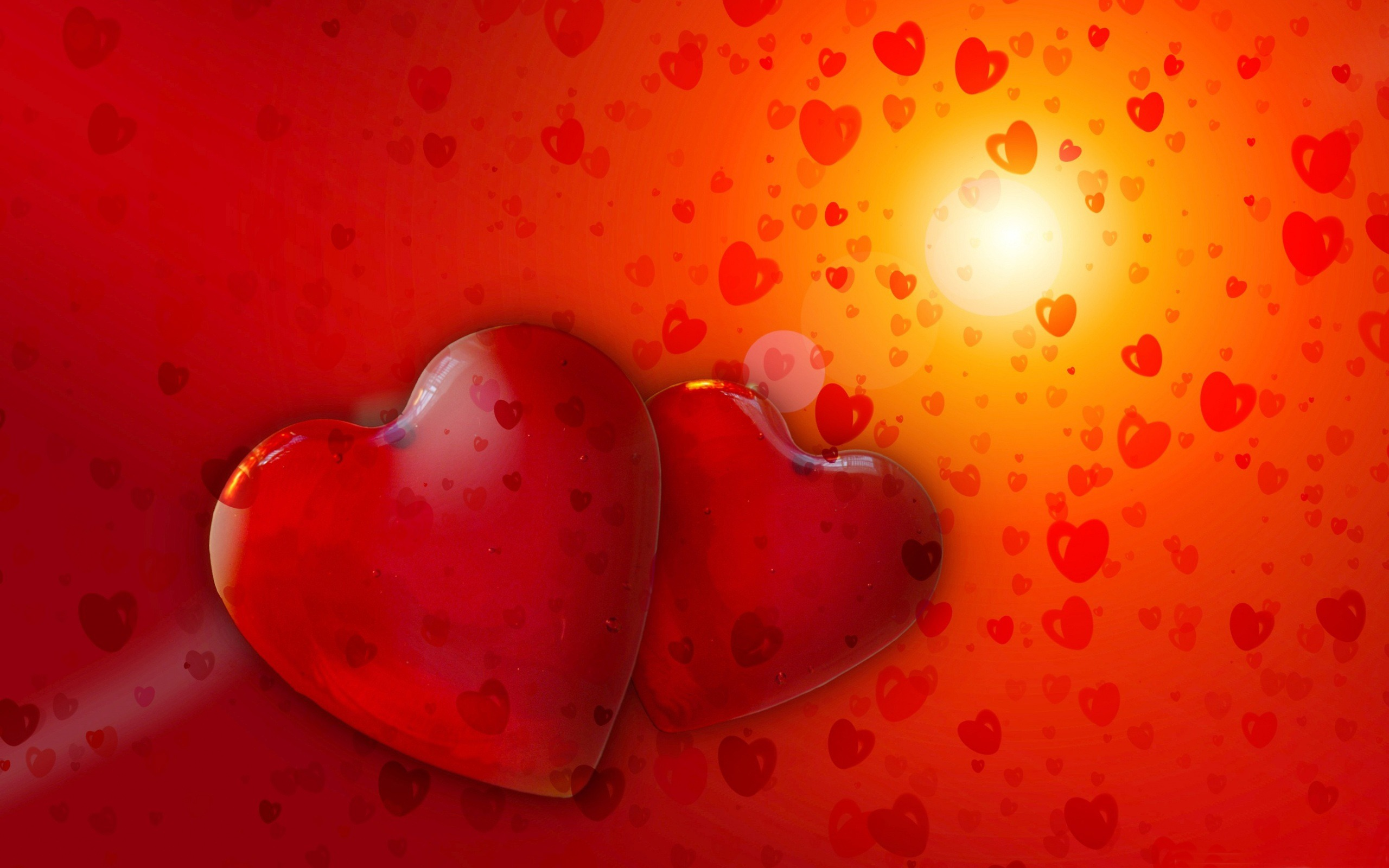 Love Red Heart HD Wallpaper