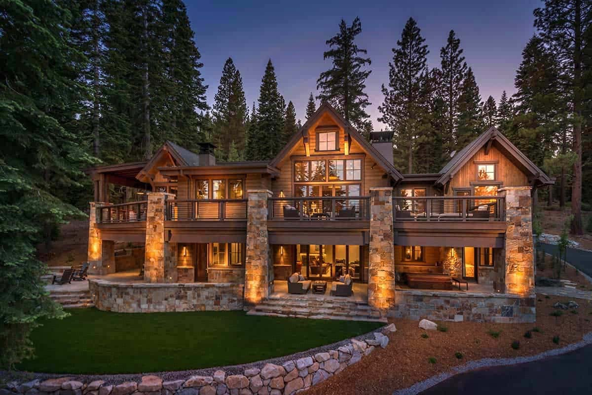 Sophisticated Style Rustic Mountain Home in Tahoe