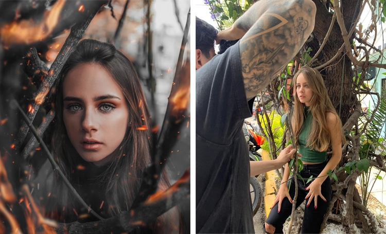 Unglamorous Behind-the-Scenes Shots of Magical Instagram Photos