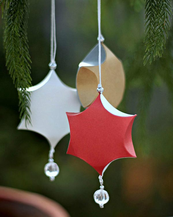 Sculpted Paper Ornaments for Christmas