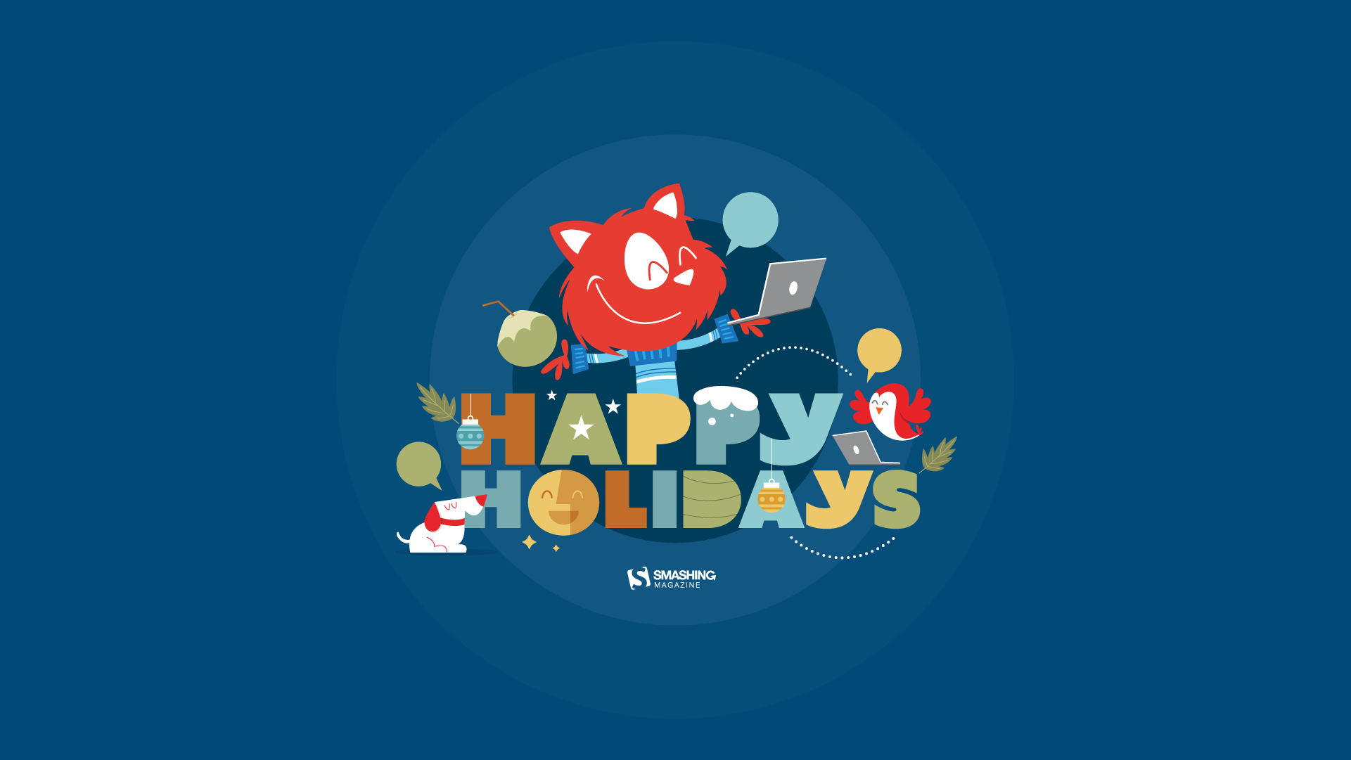 Happy Holidays HD Wallpaper for Desktop 1920x1080